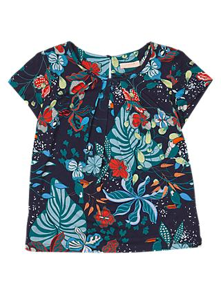 Jigsaw Girls' Palm Beach Top, Navy