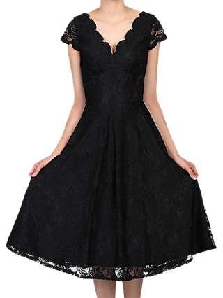 Jolie Moi Cap Sleeve Lace Prom Dress