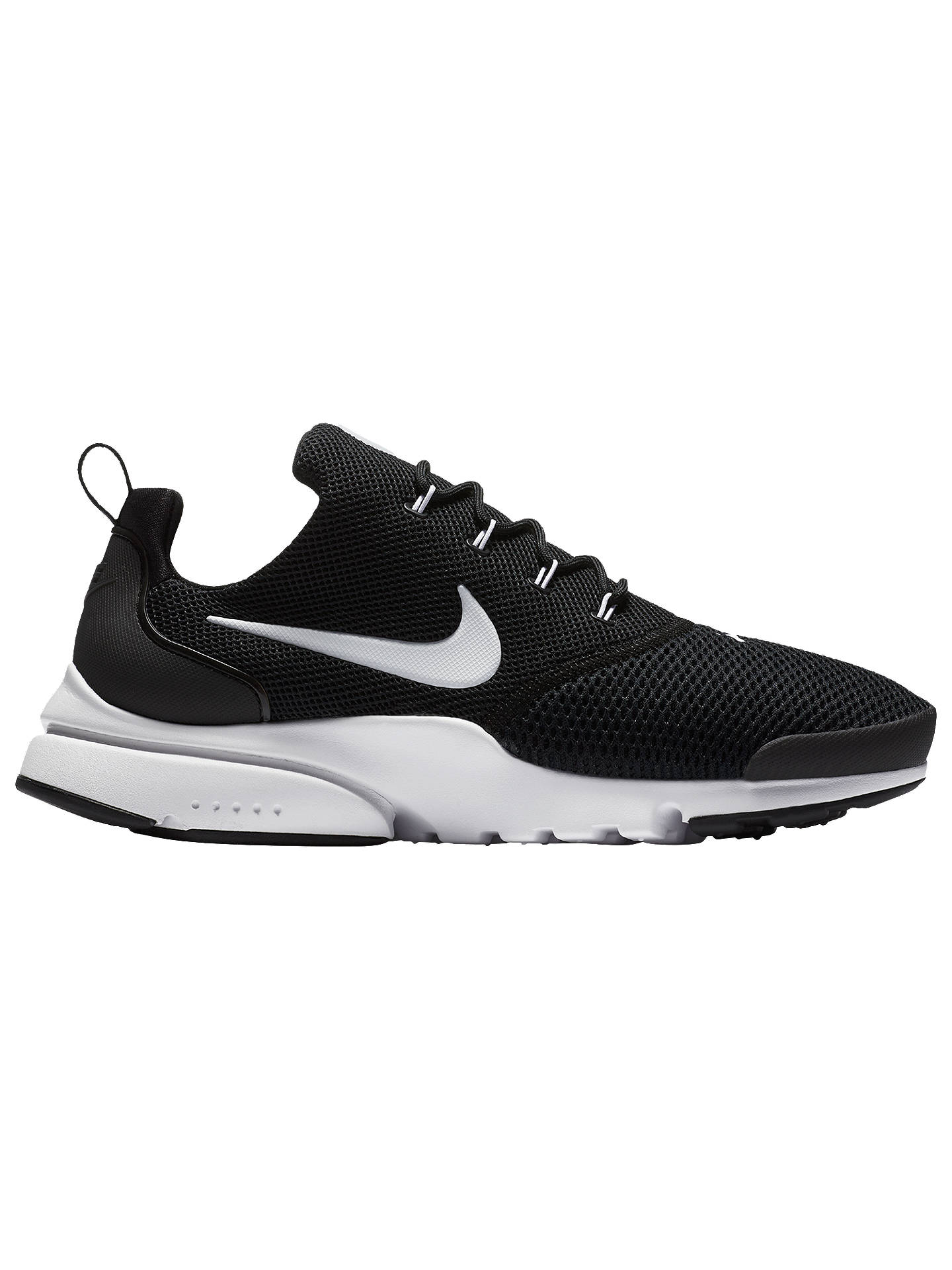 release date: c18ab 17678 Buy Nike Presto Fly Men s Trainers, Black White, 7 Online at johnlewis.
