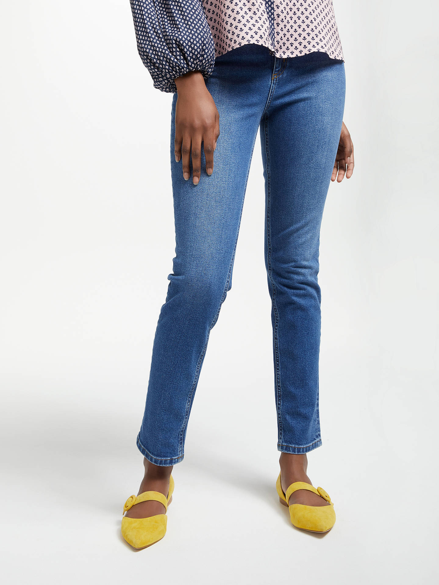 BuyBoden Cavendish Girlfriend Jeans, Blue Vintage, 10 Online at johnlewis.com