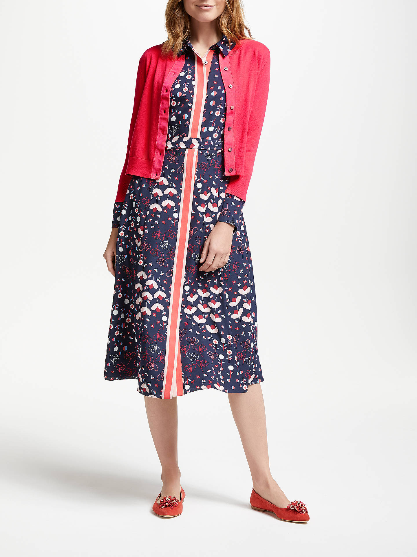 BuyBoden Amelia Crop Cardigan, Pop Peony, XS Online at johnlewis.com