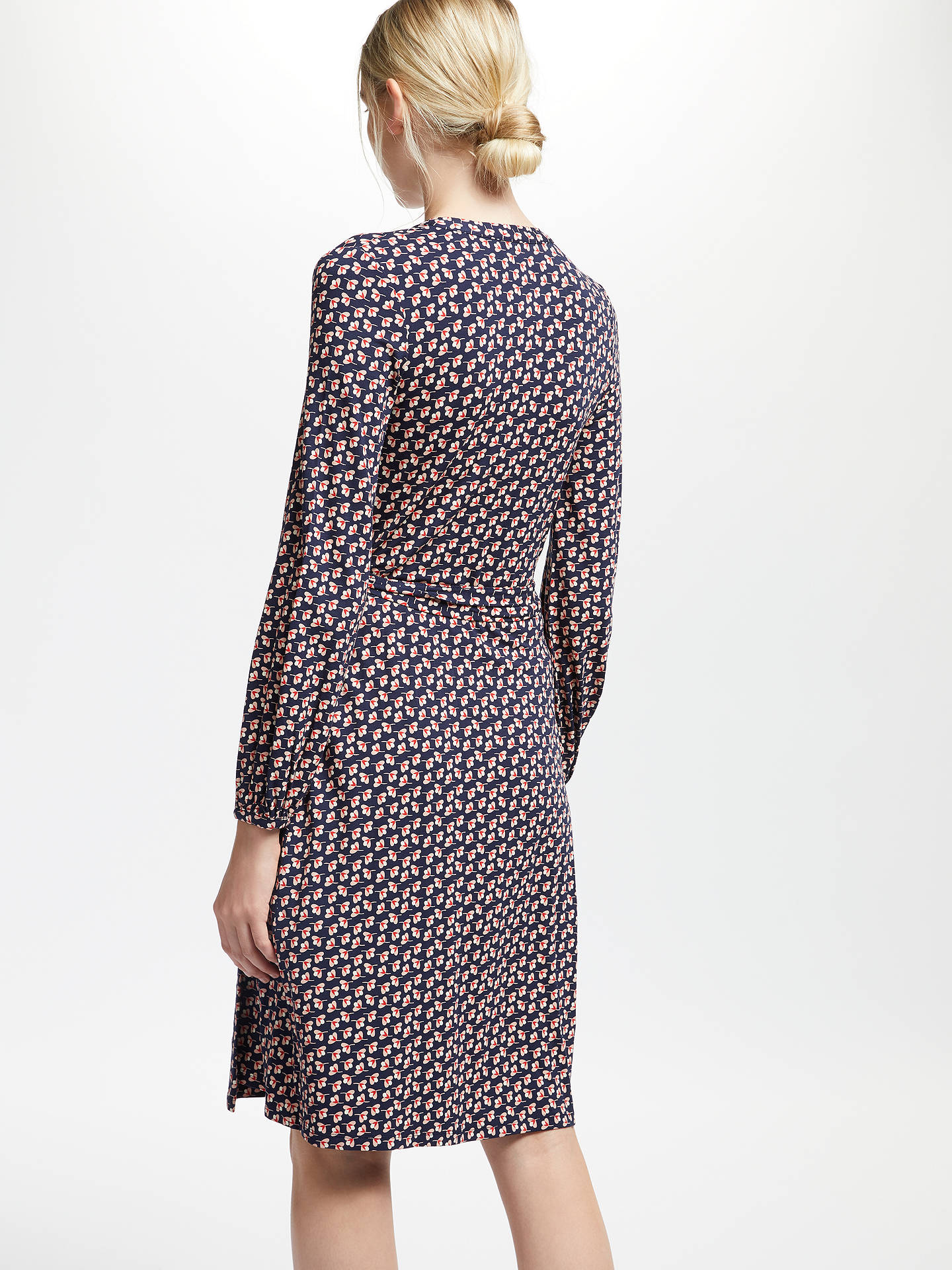BuyBoden Elodie Jersey Wrap Dress, NavyMulti, 10 Online at johnlewis.com