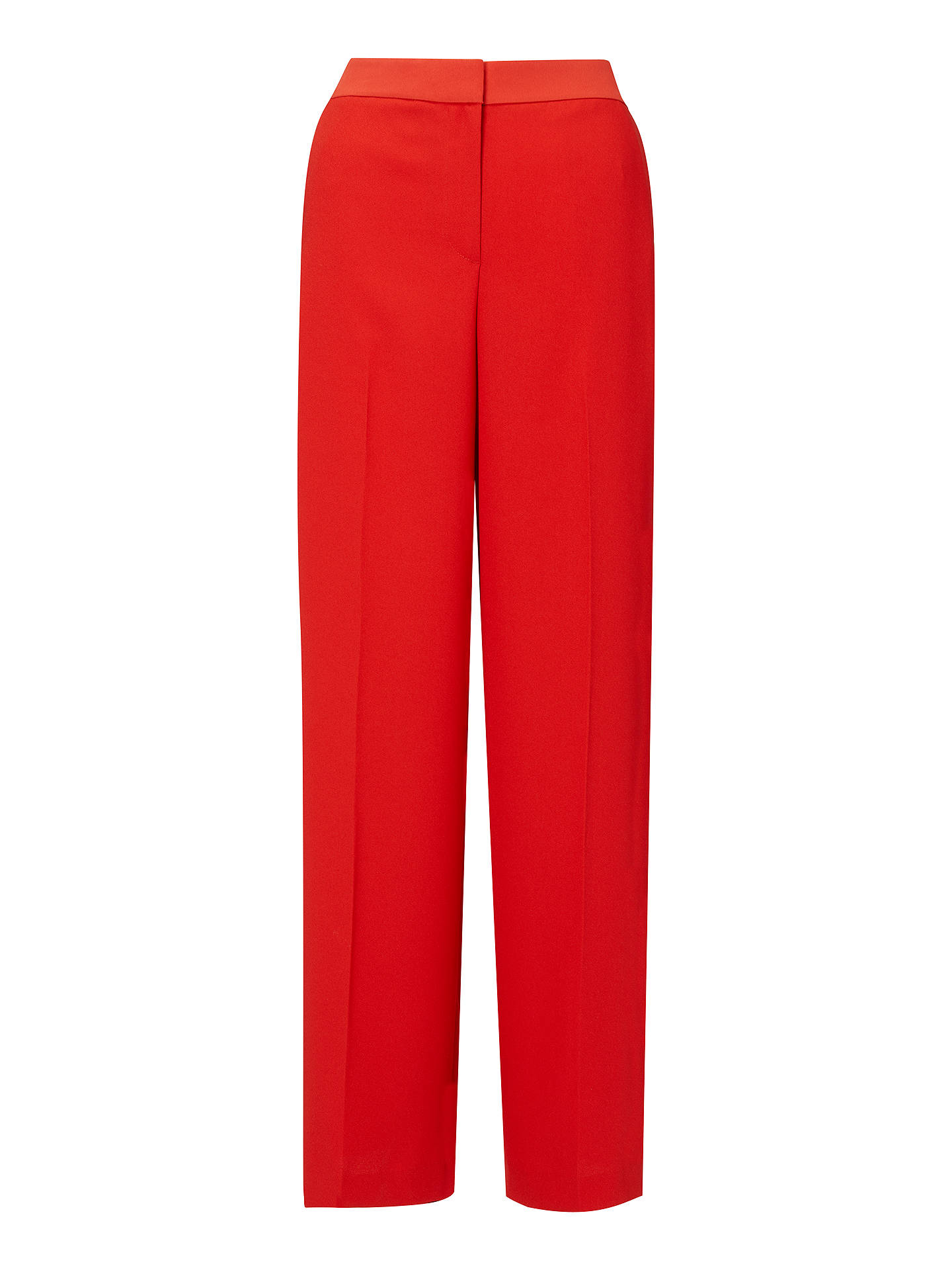 BuyBoden  Marlin Wide Leg Trousers, Post Box Red, 8 Online at johnlewis.com