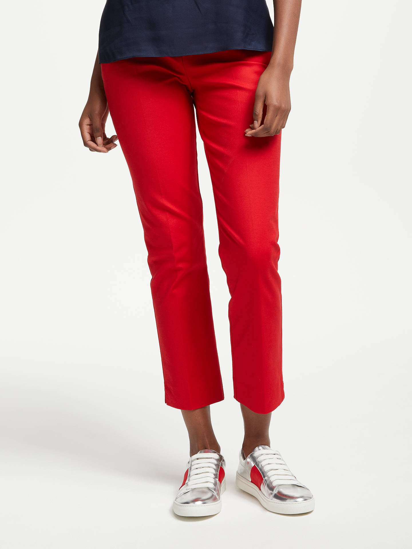 BuyBoden Richmond 7/8 Trousers, Poinsettia, 10 Online at johnlewis.com