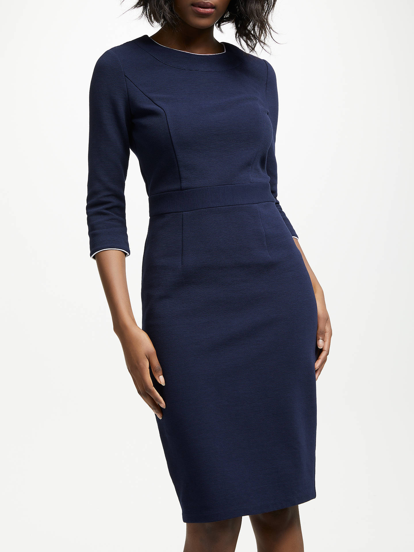 Buy Boden Mia Ottoman Dress, Navy, 10 Online at johnlewis.com