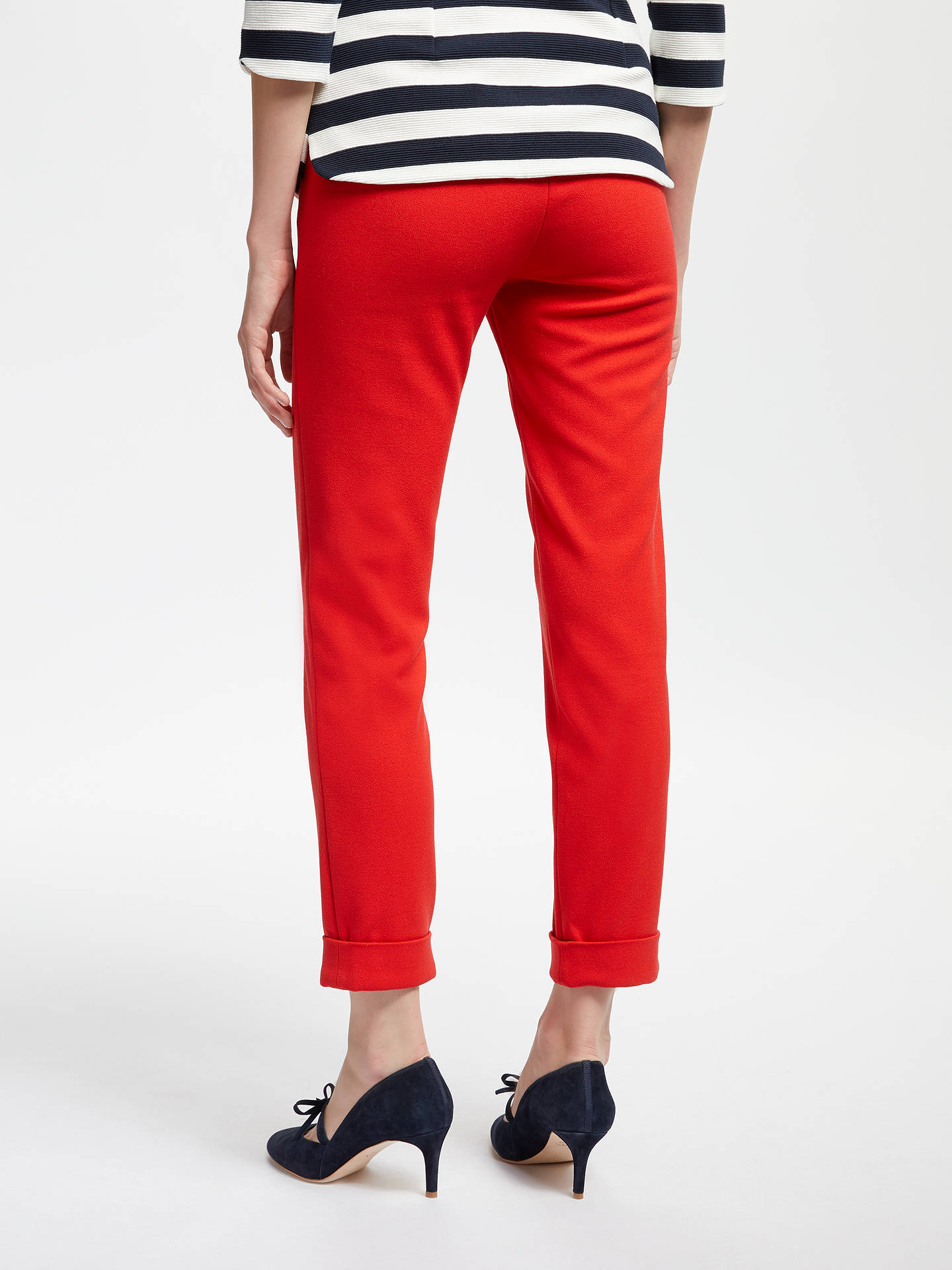 Buy Boden Mayford Trousers, Post Box Red, 16 Online at johnlewis.com