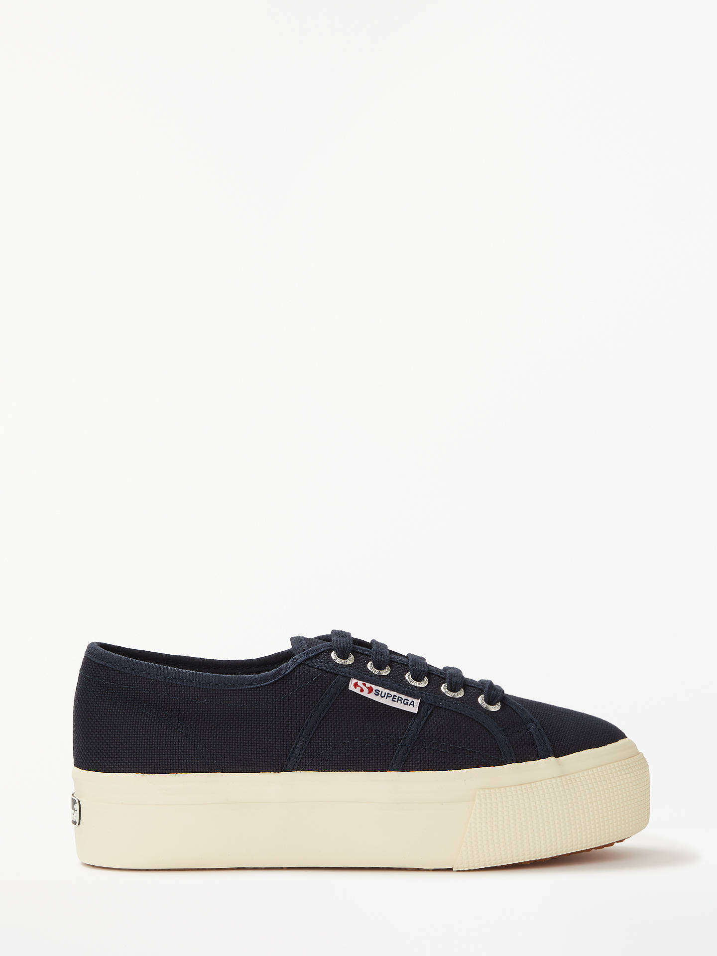 f39c35cf46cc3 Buy Superga 2790 Acotw Linea Up and Down Flatform Canvas Trainers, Navy, 4  Online ...