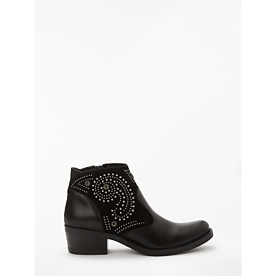 Kanna Kelly Embellished Ankle Boots, Black Leather