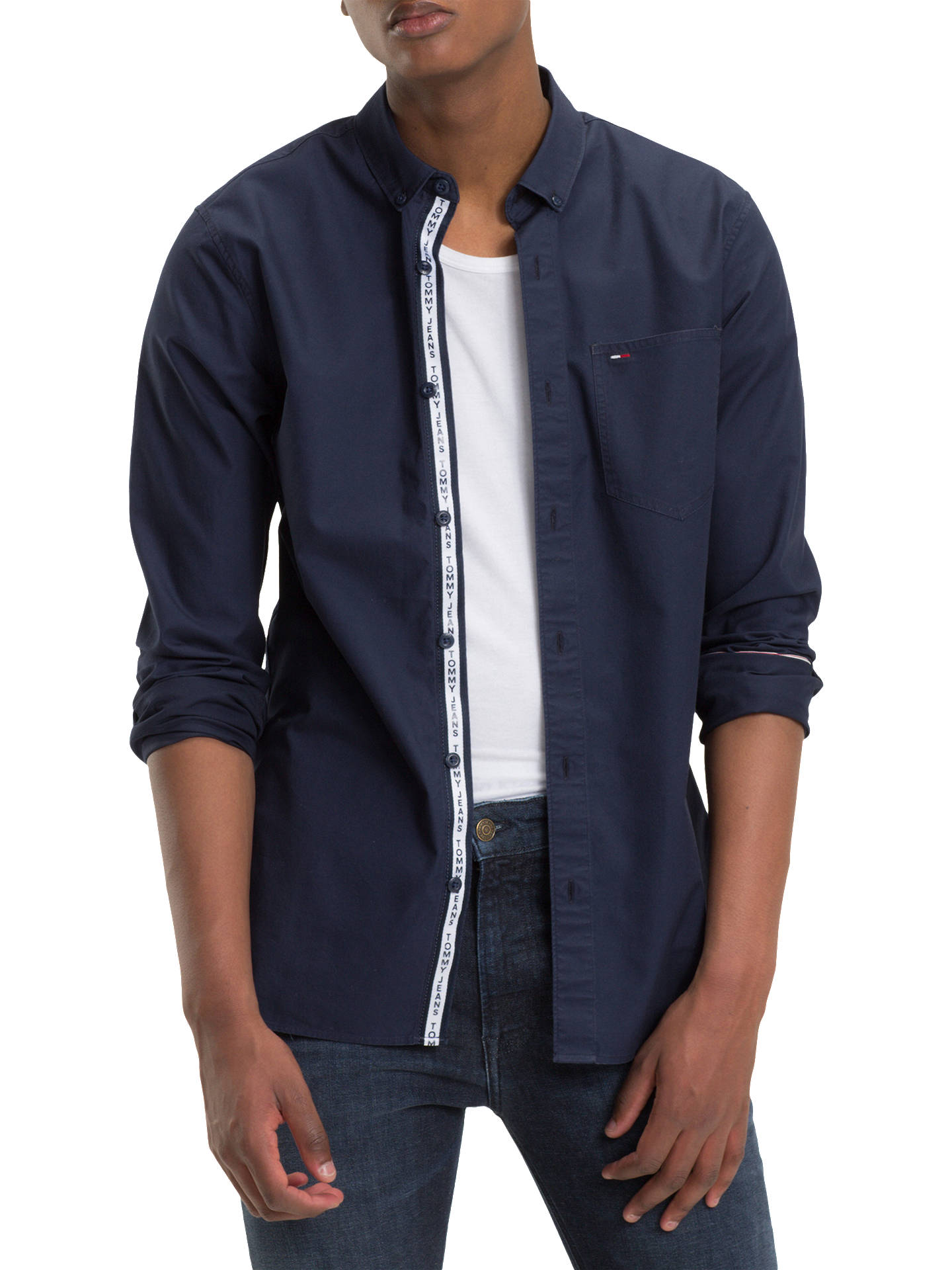 d6d50f0173aa Tommy Jeans Tape Detail Shirt at John Lewis   Partners