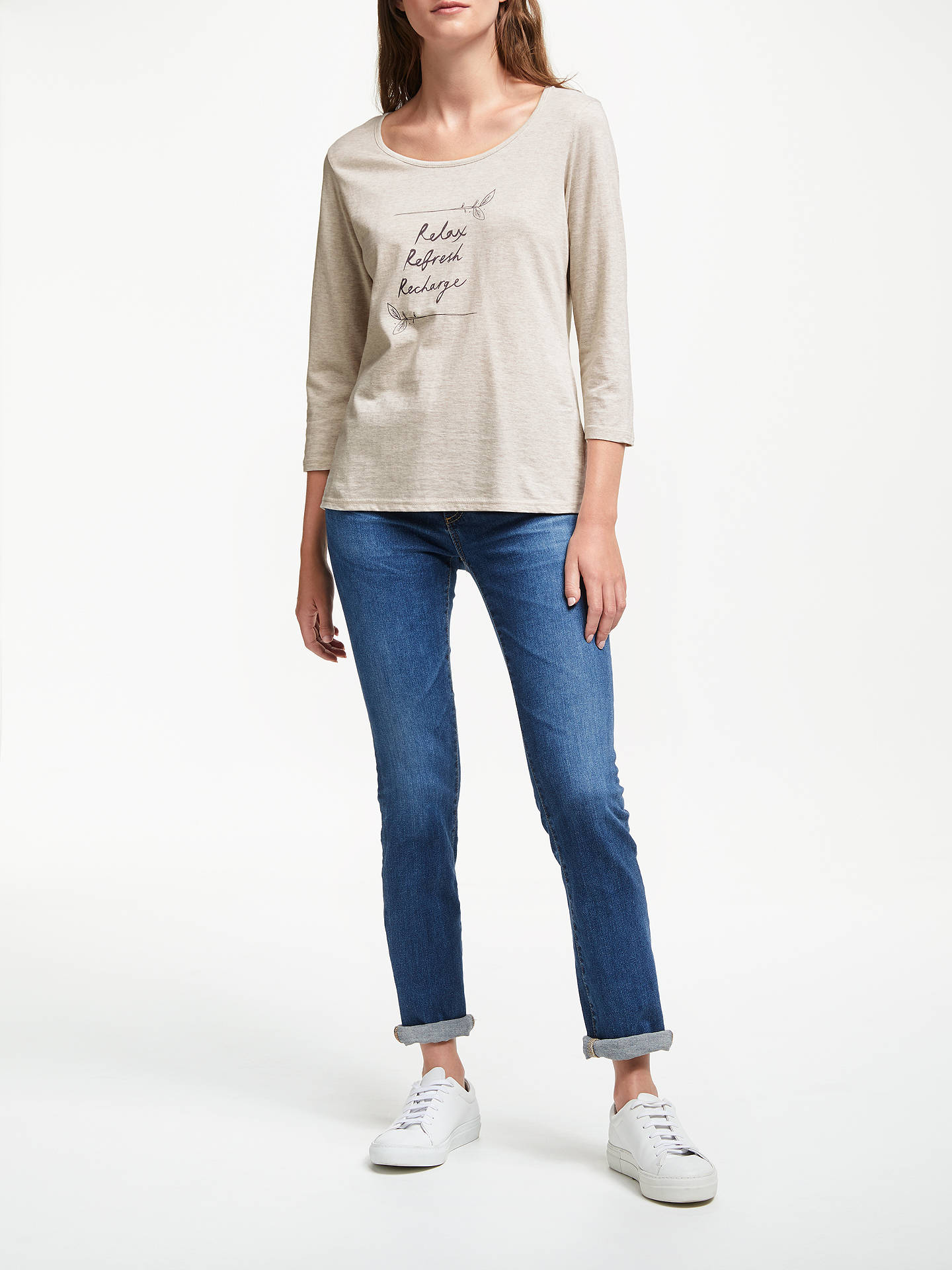 BuyThought Relaxed Motif T-Shirt, Oatmeal, 14 Online at johnlewis.com
