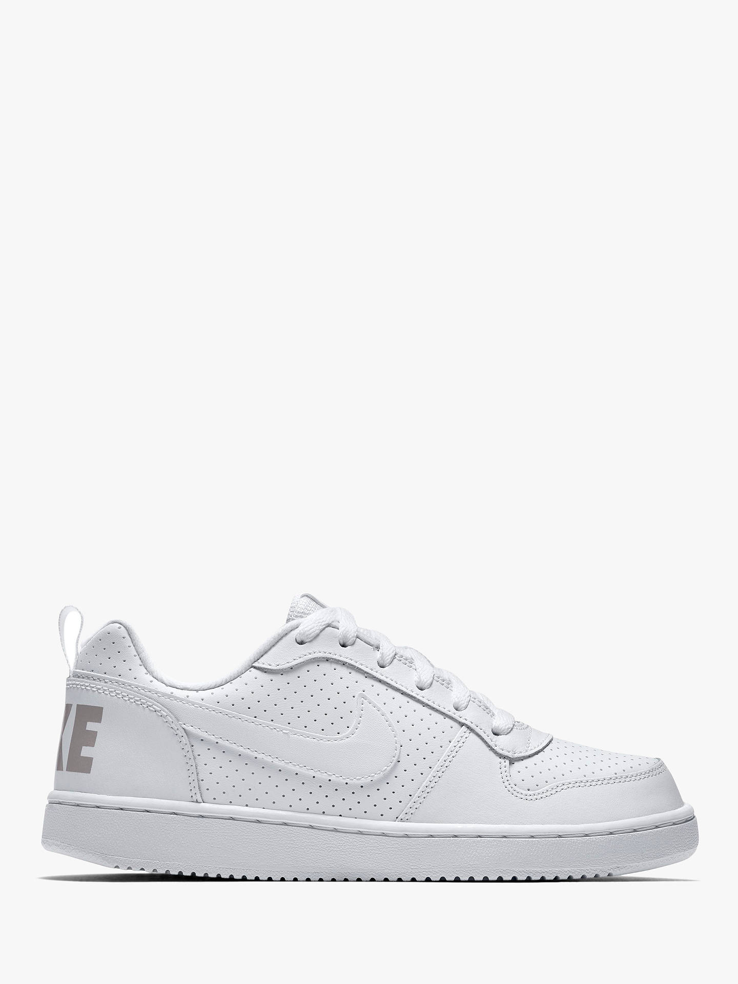 the latest 5bed1 4ad2a Buy Nike Children s Court Borough Low Trainers, White, 4 Online at  johnlewis. ...