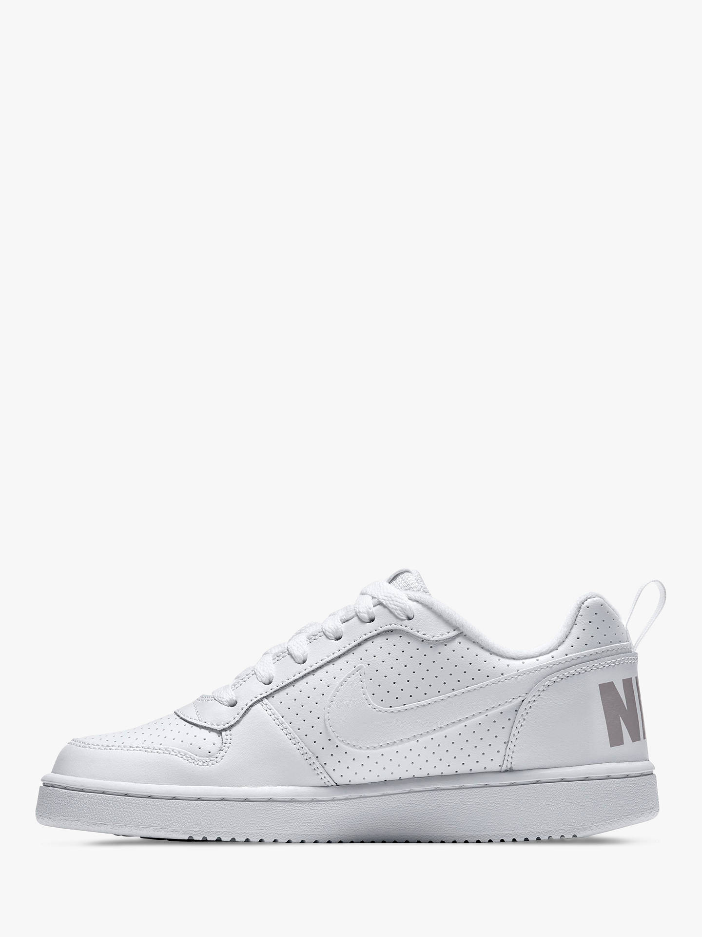 7a08106e0d ... Buy Nike Children's Court Borough Low Trainers, White, 4 Online at  johnlewis. ...