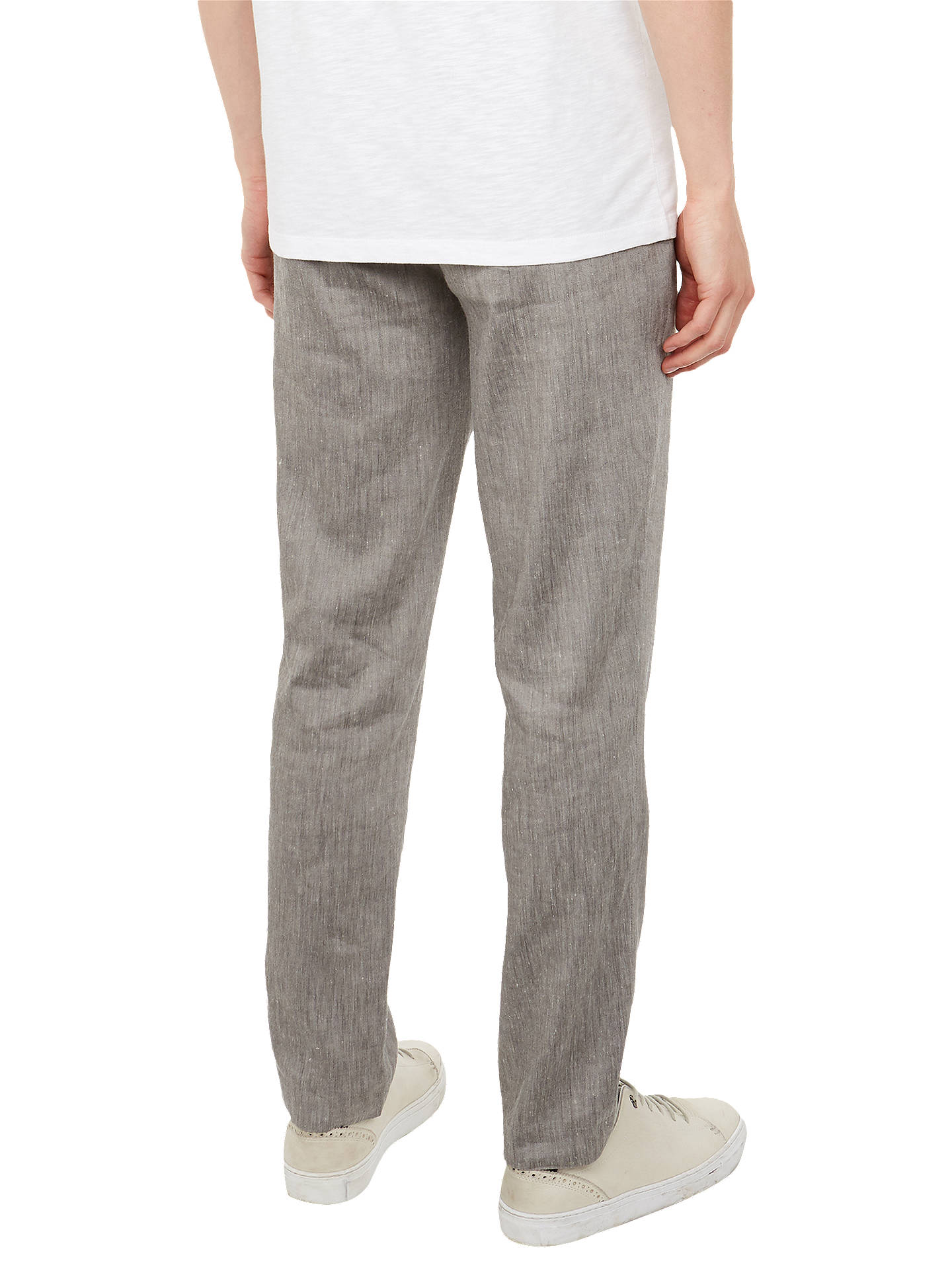 BuyTed Baker Bluetro Linen Blend Trousers, Natural, 32R Online at johnlewis.com