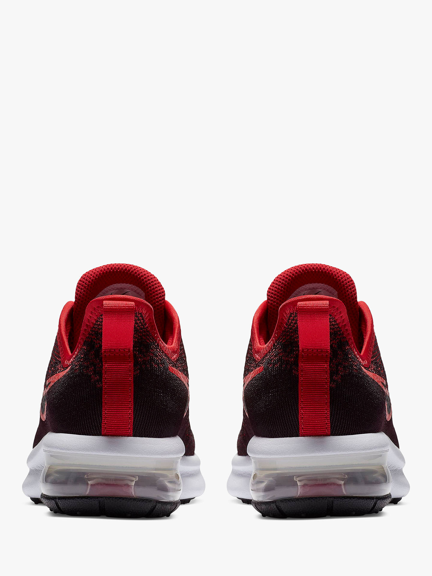 Nike Children's Air Max Sequent 4 Trainers, BlackRed at