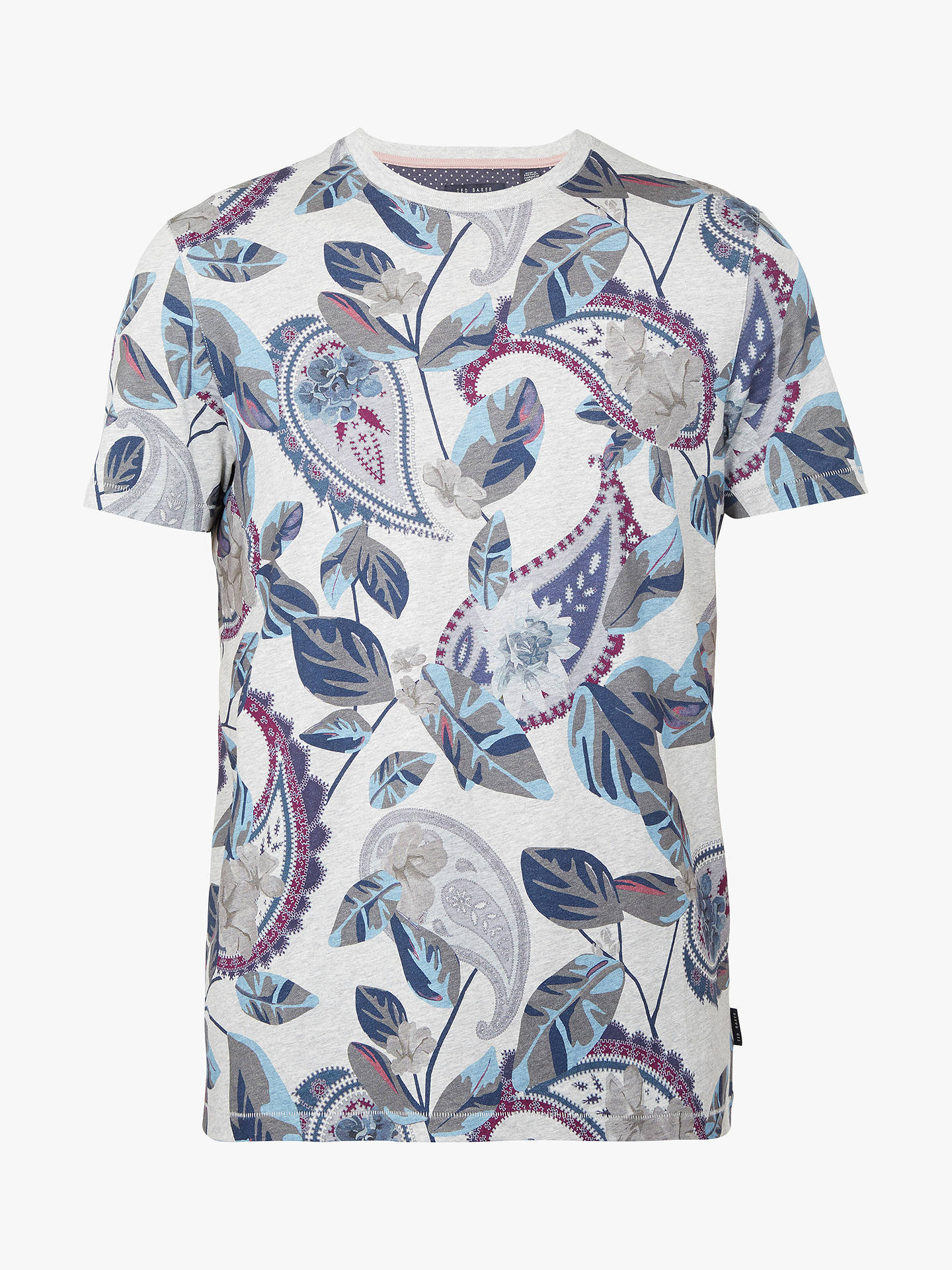 BuyTed Baker Lewii T-Shirt, Grey, 3 Online at johnlewis.com