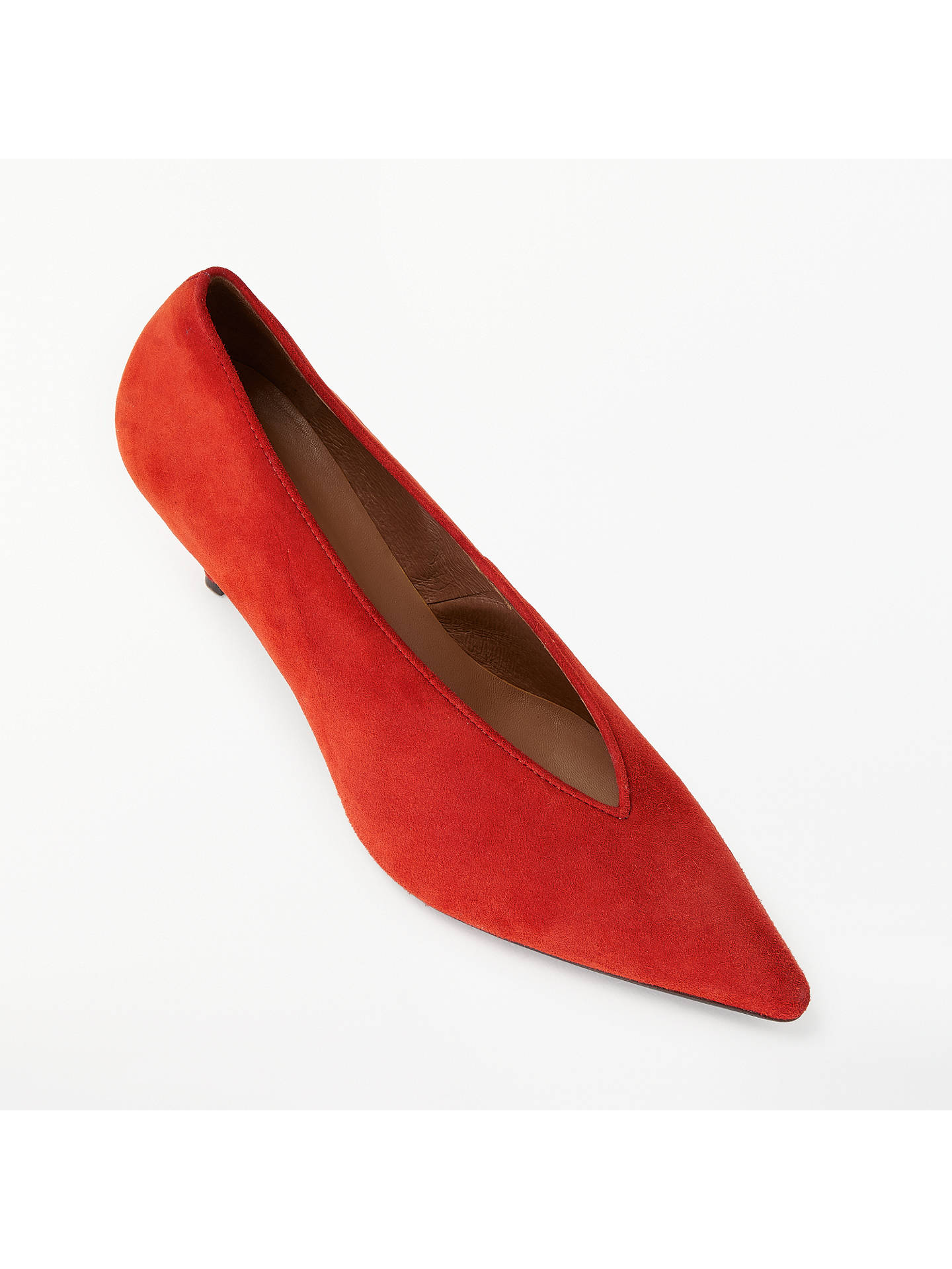de5fc583722b ... Buy AND/OR Avolene Kitten Heel Court Shoes, Orange Suede, 4 Online at