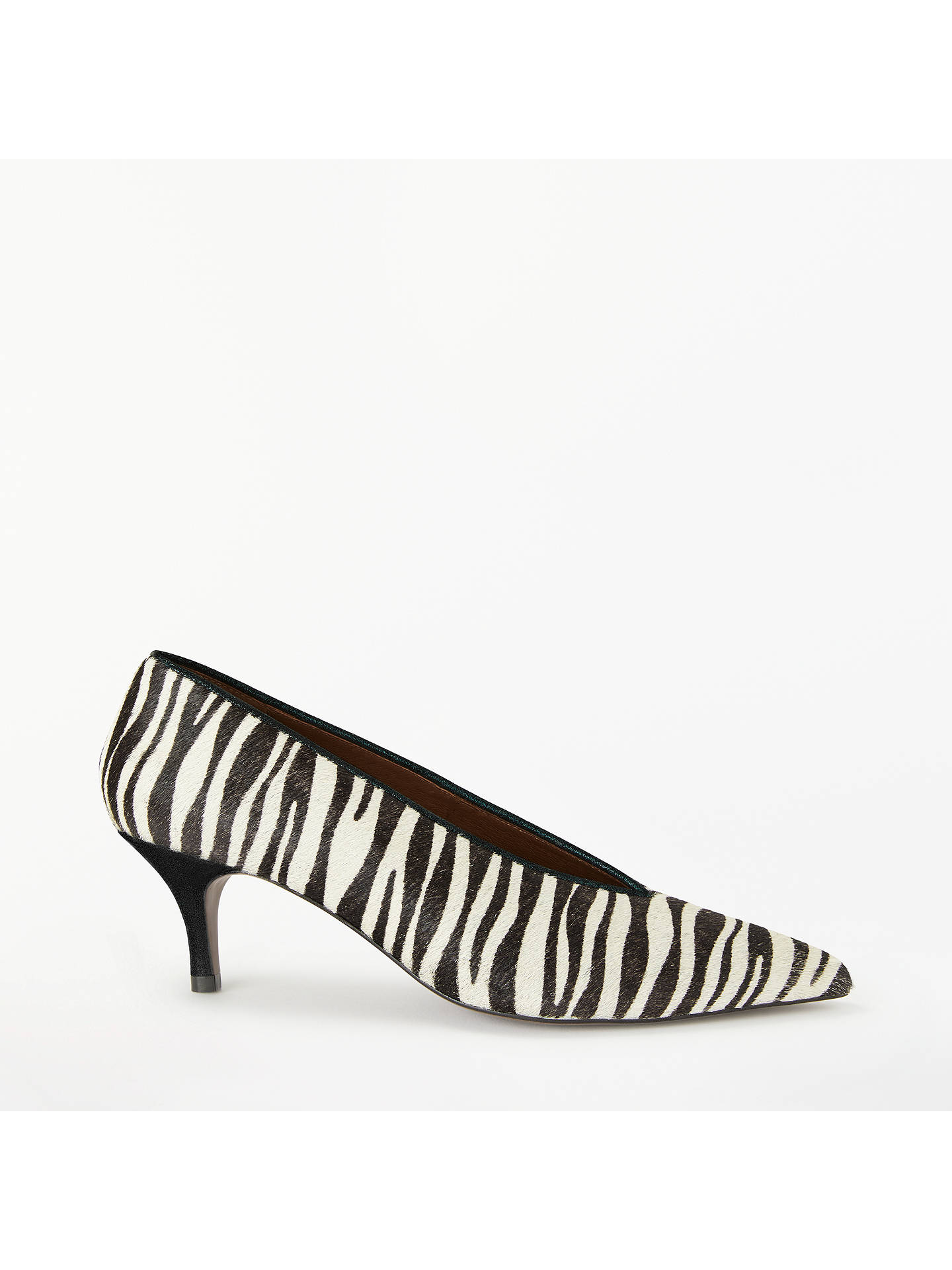 aca972b94dea Buy AND/OR Avolene Kitten Heel Court Shoes, Zebra Print, 3 Online at ...