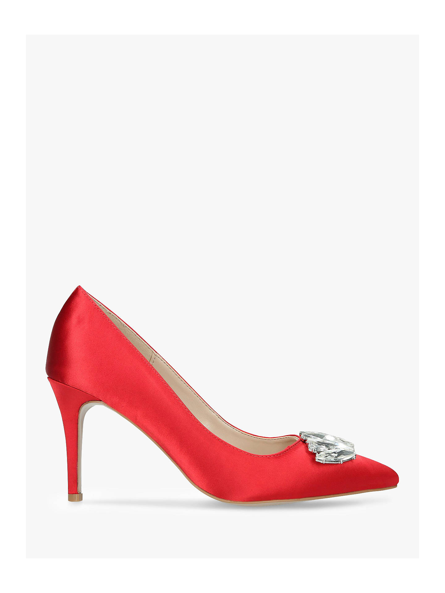 Buy Carvela Lively Pointed Toe Stiletto Court Shoes, Red, 7 Online at johnlewis.com