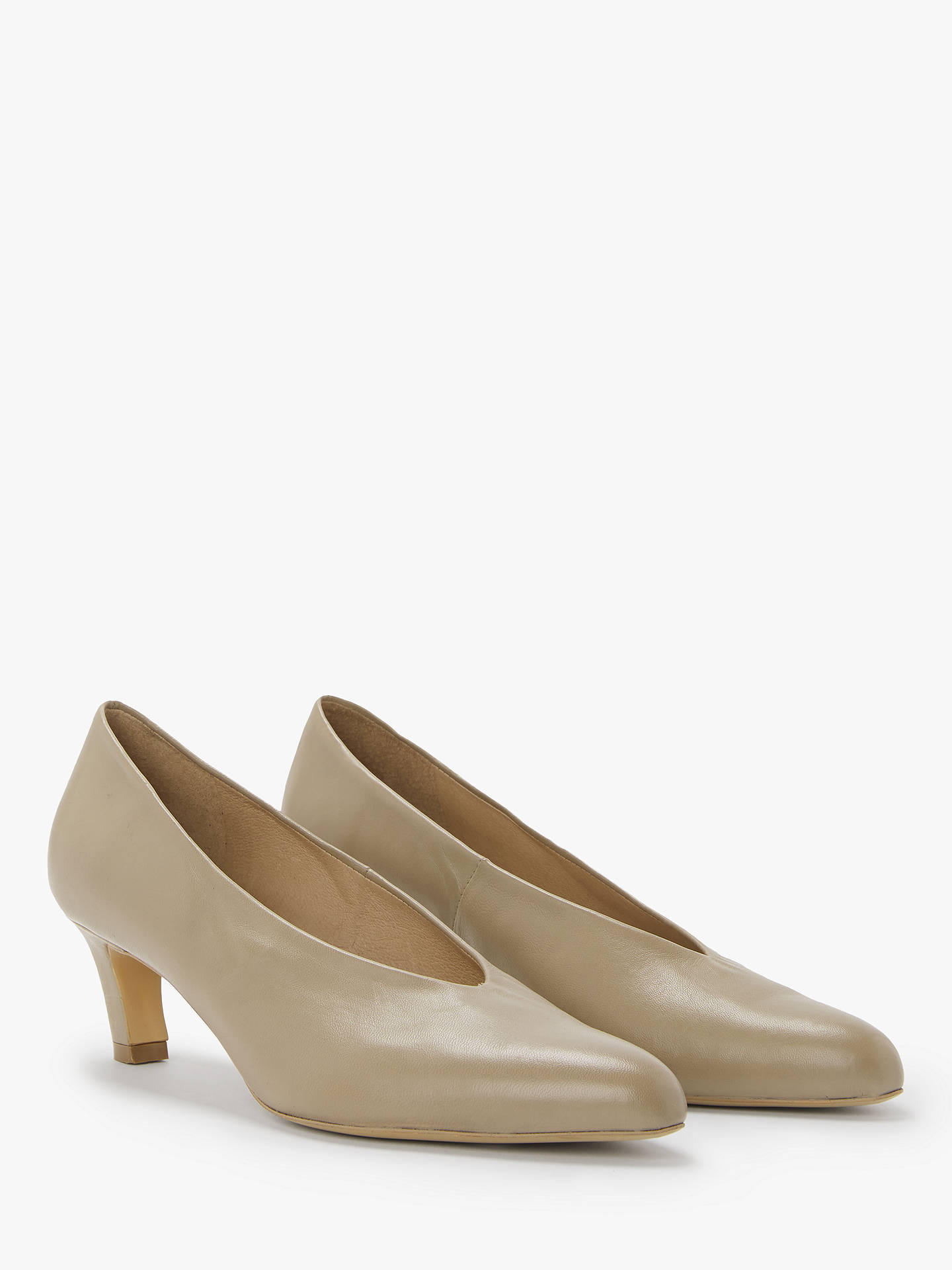BuyModern Rarity Amber Kitten Heel Court Shoes, Beige, 5 Online at johnlewis.com