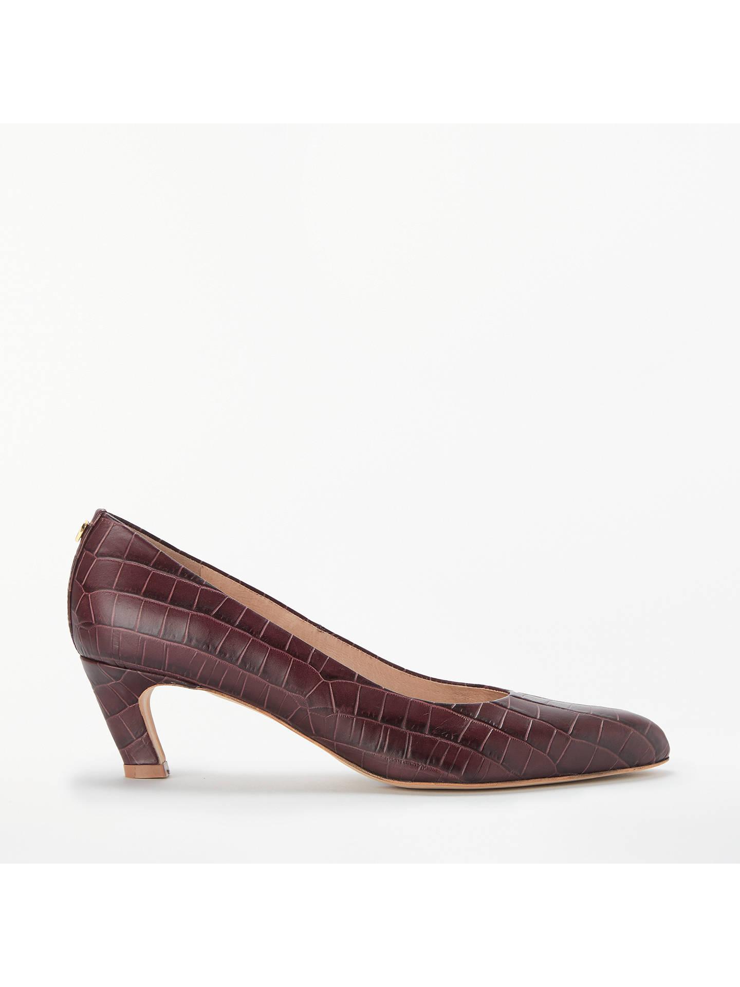 1a9a8bb34 Buy Modern Rarity Amber Kitten Heel Court Shoes, Burgundy Croc, 7 Online at  johnlewis ...