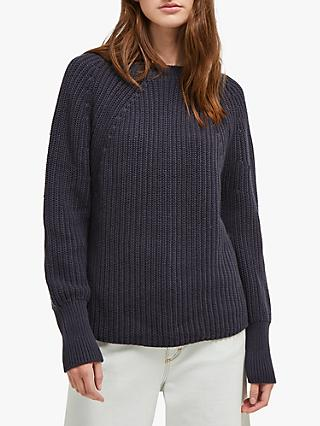 French Connection Millie Mozart Rib Jumper, Utility Blue