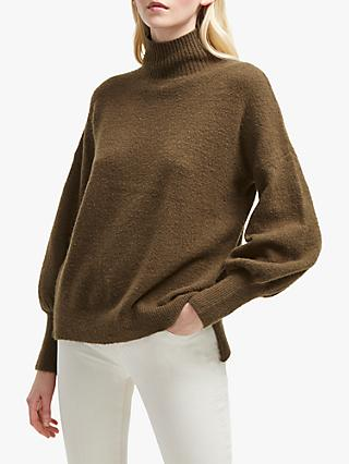 French Connection Orla Flossy Balloon Sleeve Jumper, Orca