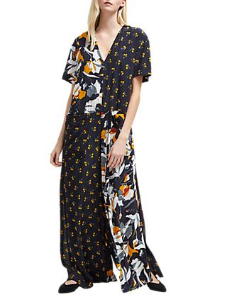 French Connection Aventine Jumpsuit, Utility Blue/Multi