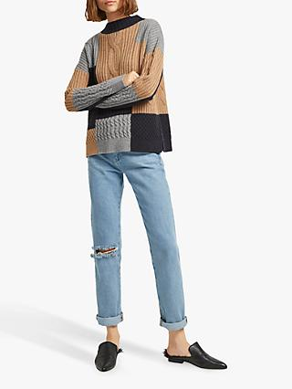 25d87248a15 French Connection Amie Block Cable Knit Jumper