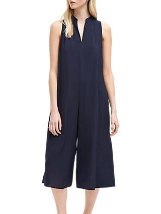 French Connection Mahi Crepe Jumpsuit, Utility Blue