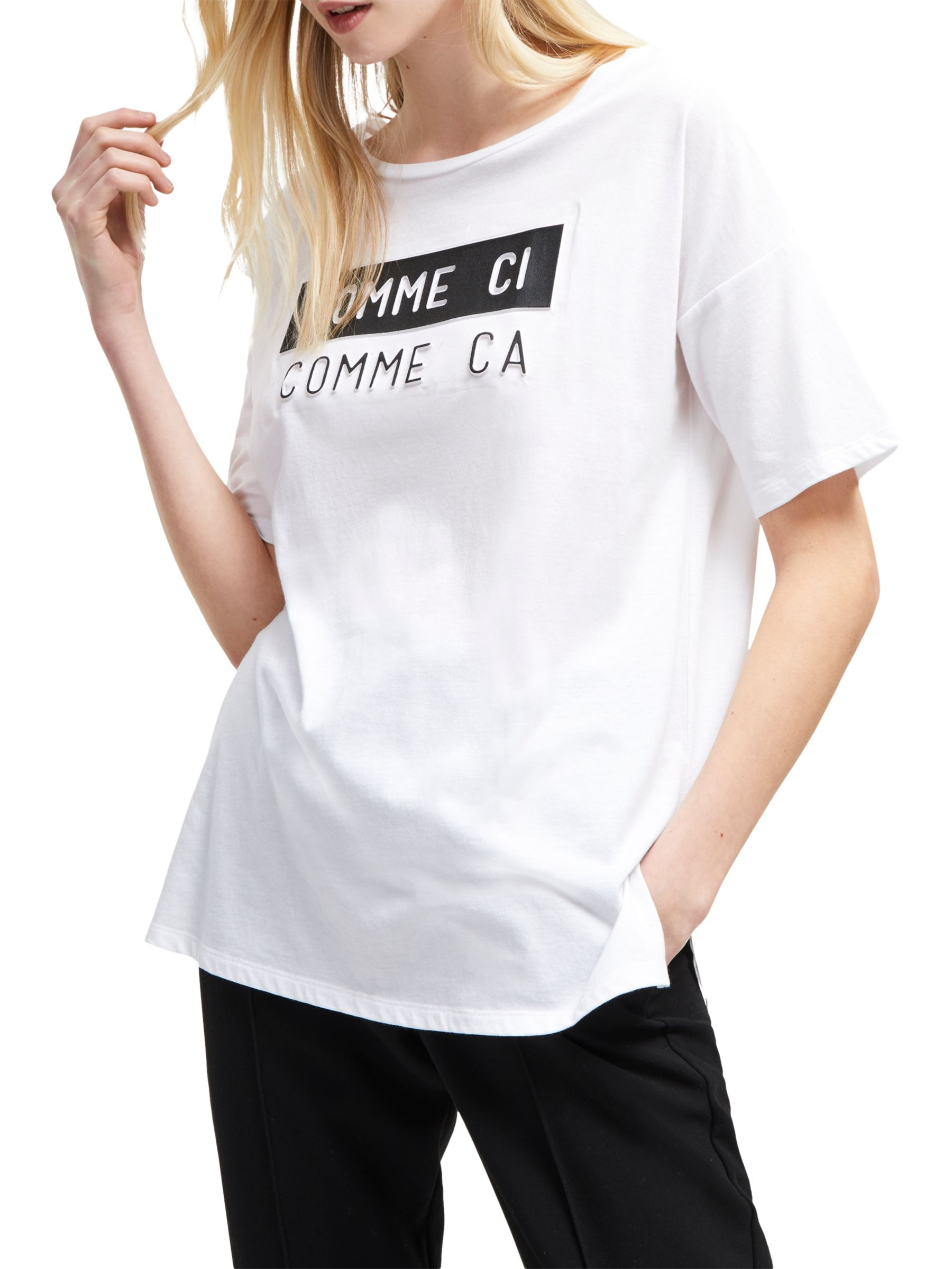 French Connection French Connection Comme Ci T-Shirt, White