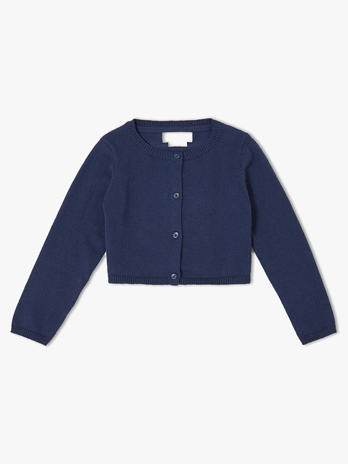 BuyJohn Lewis & Partners Girls' Shrug Cardigan, Navy, 13 years Online at johnlewis.com