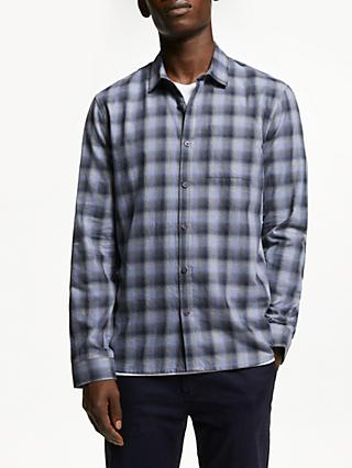 Kin Fade Out Check Shirt, Blue