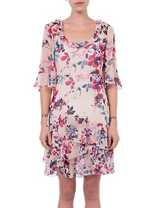 French Connection Linosa Crinkle Dress, Barley Pink