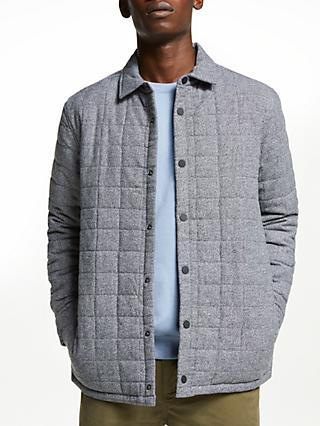 Kin Quilted Jacket, Grey Marl
