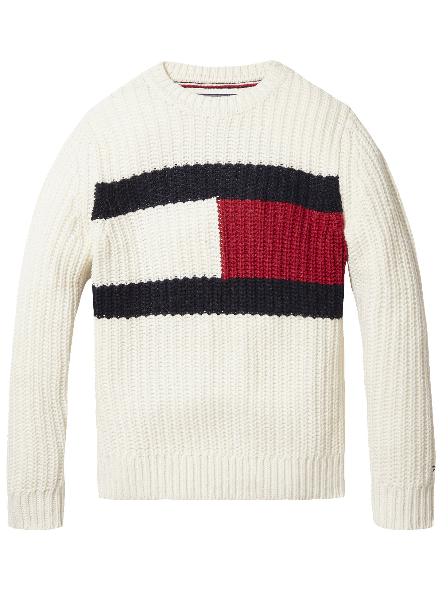 587ffe2b2 Buy Tommy Hilfiger Boys' Flag Sweater, White, 6 years Online at johnlewis.