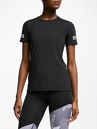 Björn Borg Carla Short Sleeve Training Top, Black Beauty