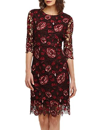 Phase Eight Belle Lace Dress, Claret
