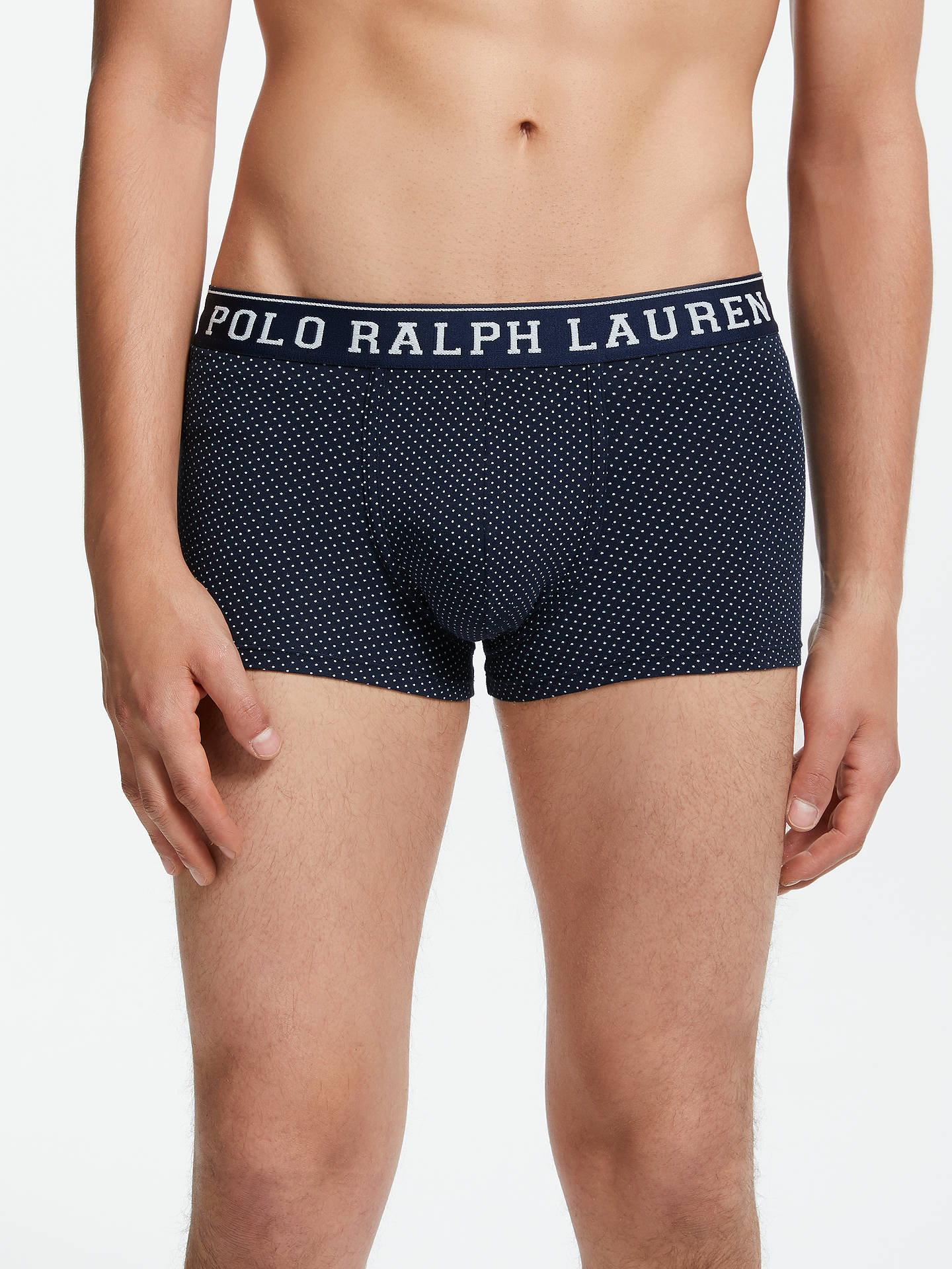 Buy Polo Ralph Lauren Cruise Dot Trunks, Navy, M Online at johnlewis.com