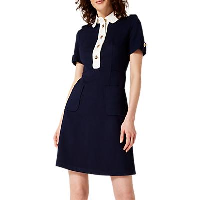 Damsel in a Dress Clio Shirt Dress, Navy/Ivory