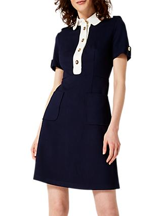 Damsel in a Dress Clio Shirt Dress, Navy/Ivory