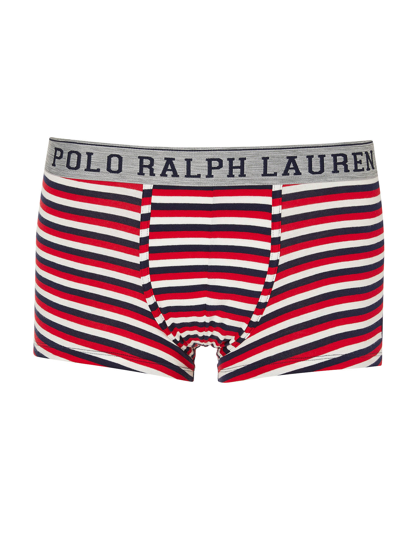 Buy Polo Ralph Lauren Multi Stripe Trunks, Red/White, S Online at johnlewis.com