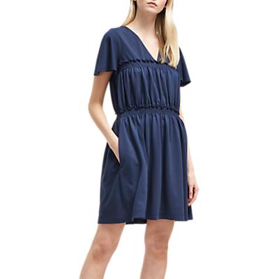 French Connection Aldyth V-Neck Dress, Utility Blue