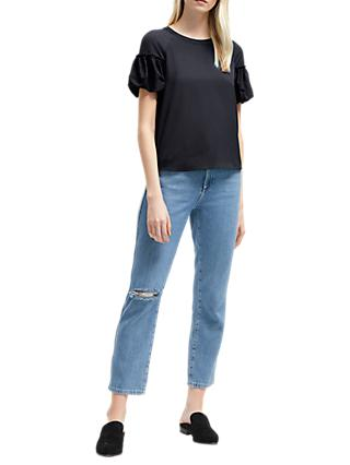 French Connection Puff Sleeve Top
