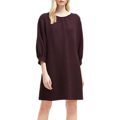 French Connection Abelena Jersey Cropped Sleeve Dress, Plum Noir