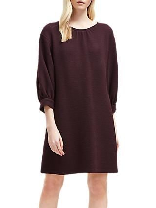 6d6fc7c92a6 French Connection Abelena Jersey Cropped Sleeve Dress, Plum Noir
