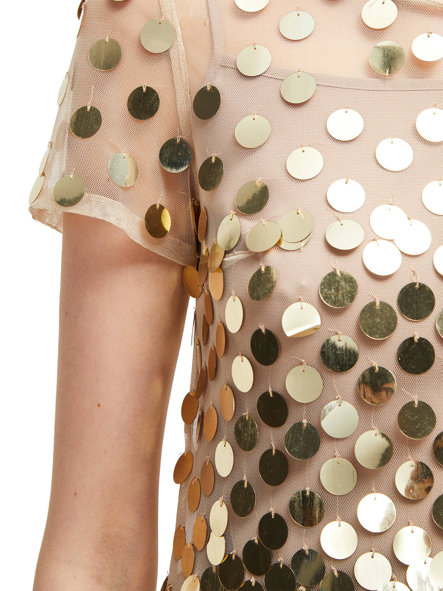 BuyFrench Connection Bashu Sparkle Tunic Dress, Gold, 6 Online at johnlewis.com