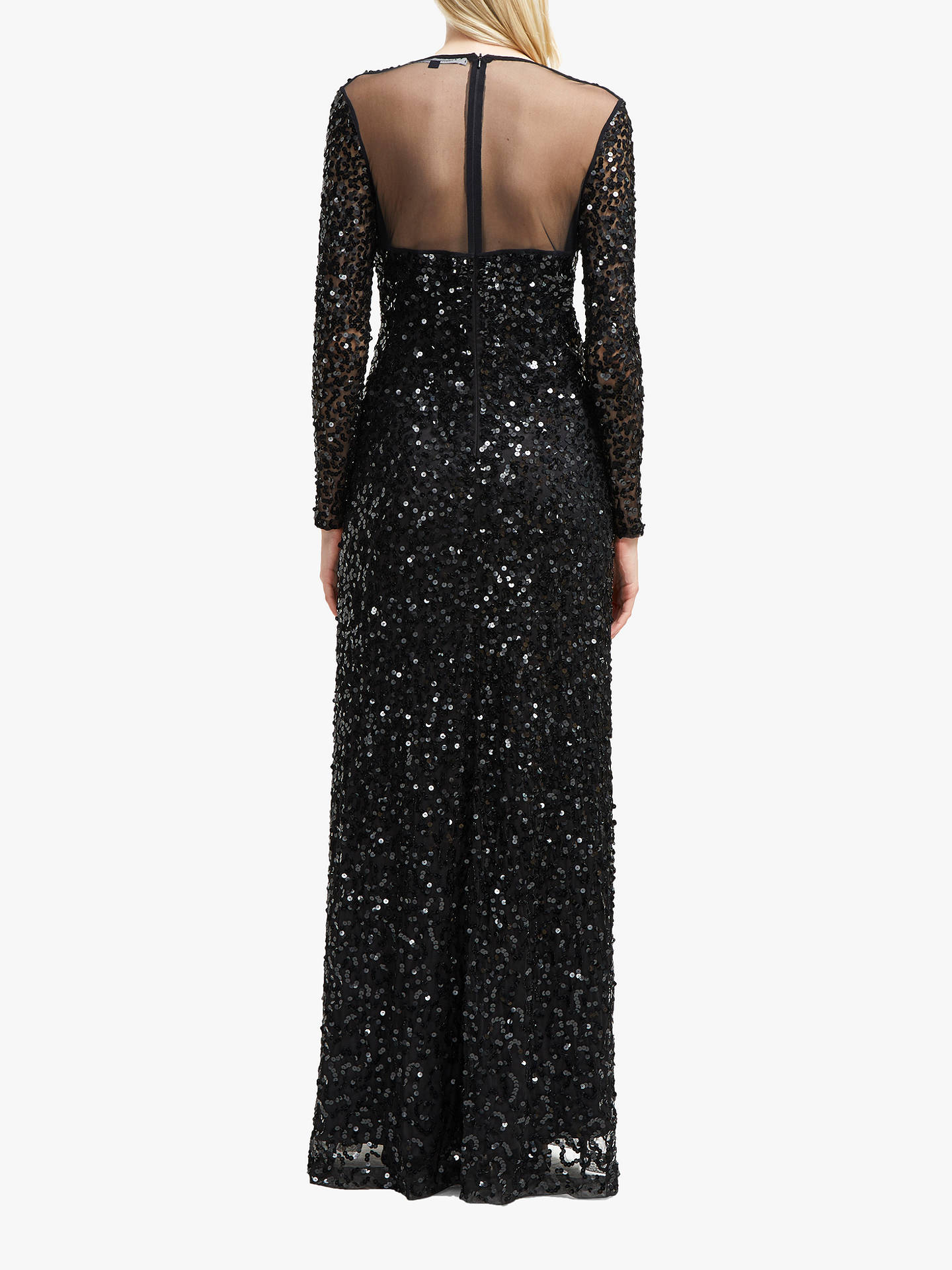 c67b9c6ac7f ... Buy French Connection Helena Sequin V-Neck Maxi Dress, Black, 6 Online  at ...