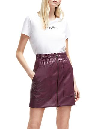 French Connection Zip Front Mini Skirt