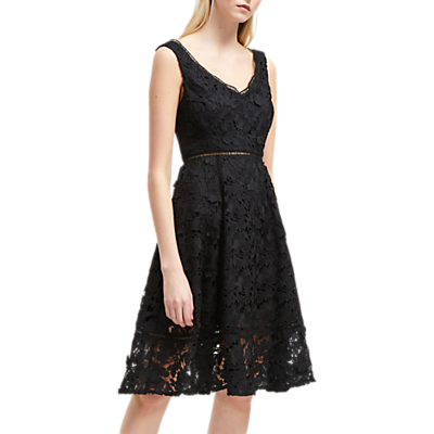 French Connection Blossom Lace Dress, Black