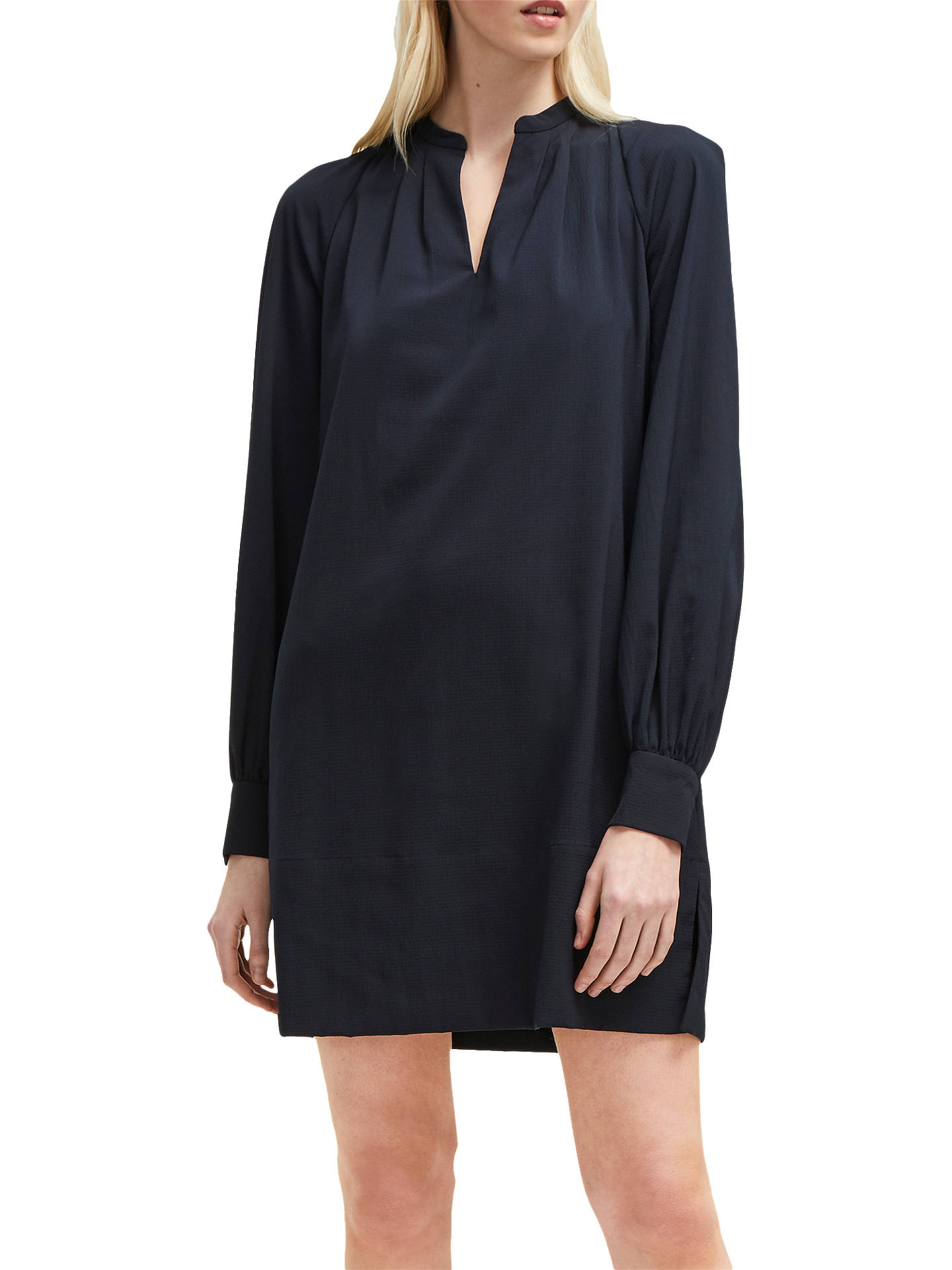 8324e60a596 Buy French Connection Mahi Crepe Tunic Dress, Utility Blue, 6 Online at  johnlewis.